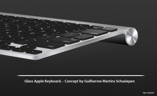 Conceito de teclado retroiluminado de vidro