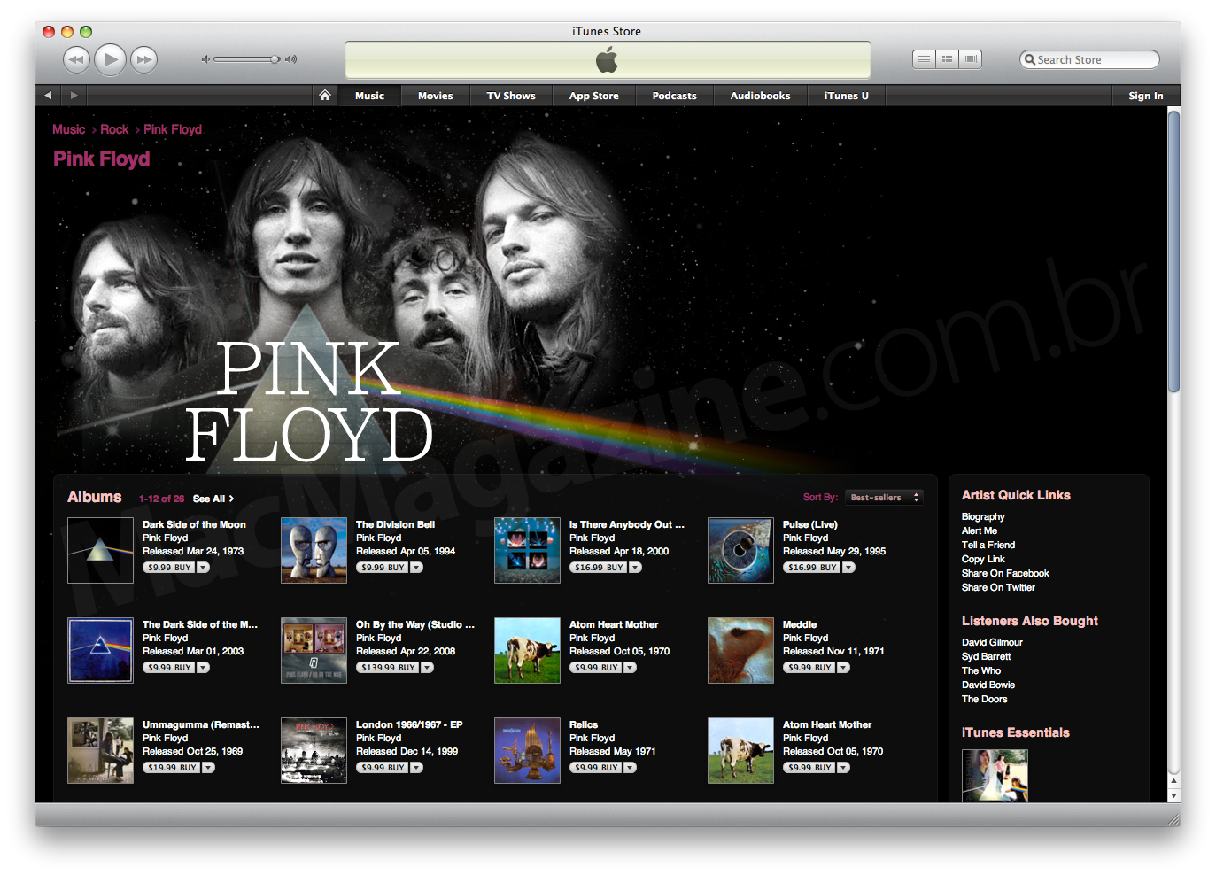 Pink Floyd na iTunes Store