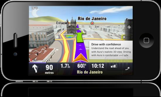 Sygic Aura Drive Brasil no iPhone