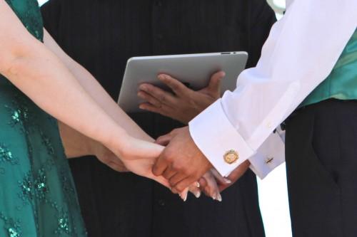 Casamento celebrado com iPad