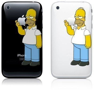 Homer Simpson no iPhone