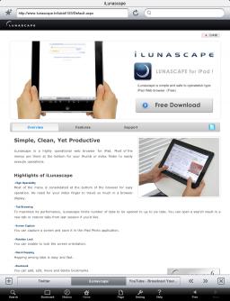 iLunascape para iPad