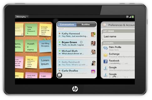 Tablet da HP com webOS