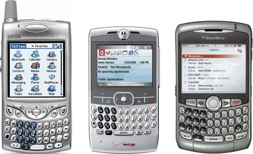 Smartphones topo de linha em 2007