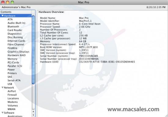 Mac Pro com 64GB de RAM
