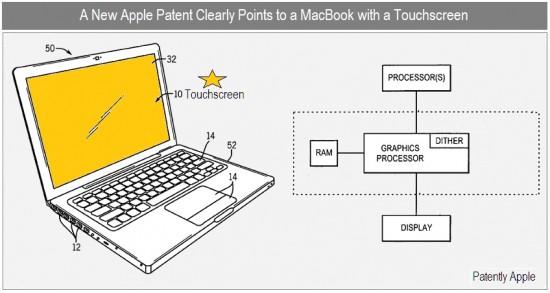 Patente de MacBook com tela sensível ao toque