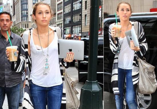 Mac é Pop - Miley Cyrus com iPad