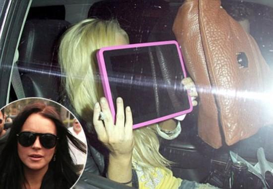 Mac é Pop - Lindsay Lohan com iPad