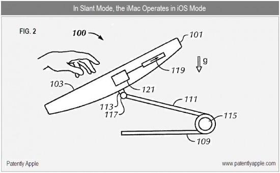 Patente de iMac sensível ao toque