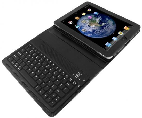 Case com teclado Bluetooth para iPad