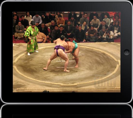 iPad e luta de sumô