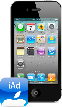 iPhone 4 com iAd