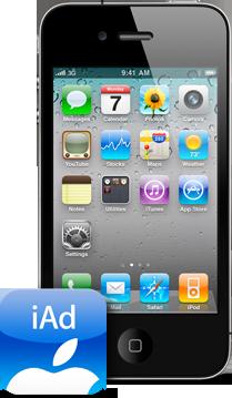 iPhone 4 com iAd
