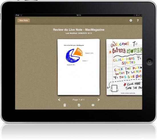 Live Notes no iPad
