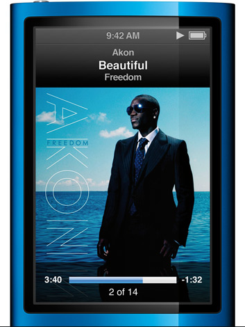 iPod nano sem Click Wheel