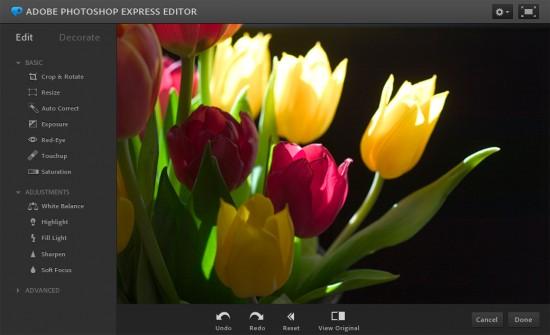 Photoshop Express Online Editor