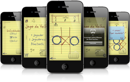 Jogo da Velha Bluetooth em iPhones