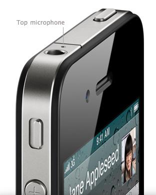 Segundo microfone do iPhone 4