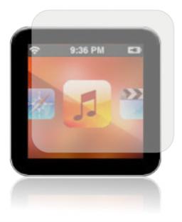 Mockup de iPod nano 6G com adesivo