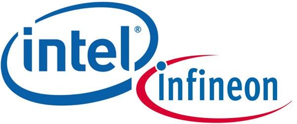 Logos da Intel e da Infineon