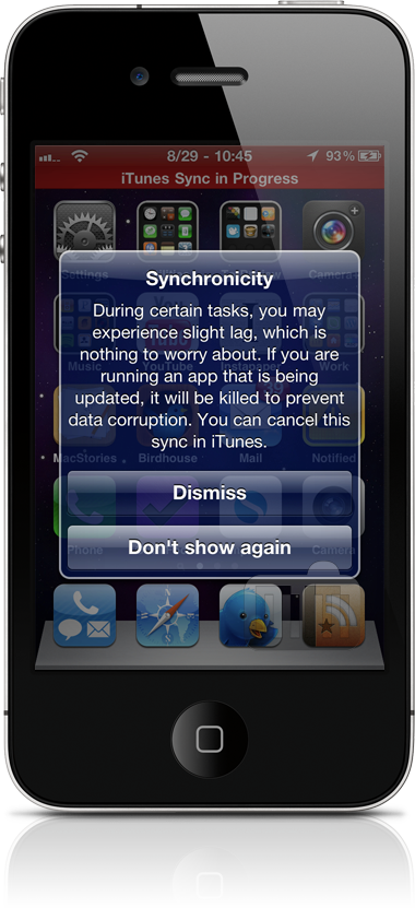 Synchronicity no iPhone