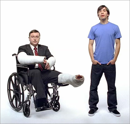 John Hodgman e Justin Long em VT da Get a Mac