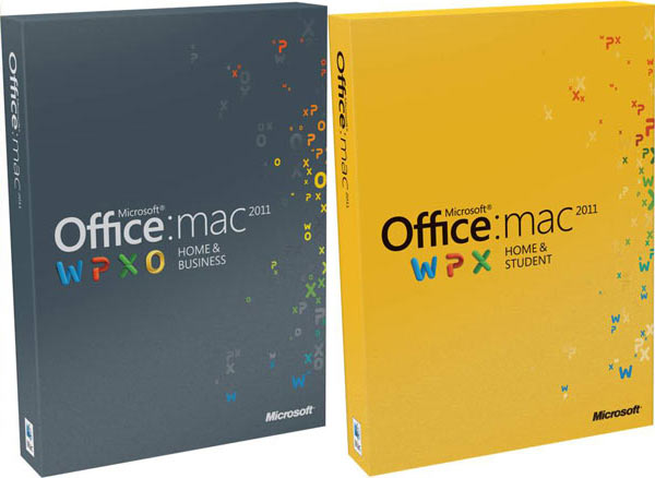 Caixas do Microsoft Office 2011 para Mac