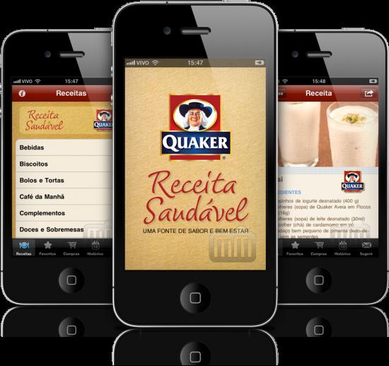 Quaker Receita Saudável em iPhones