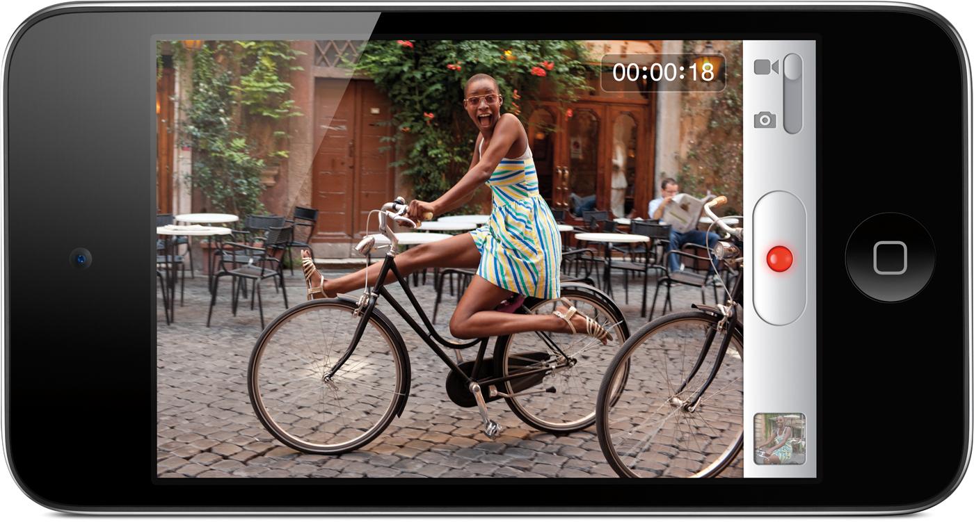 Câmera HD do iPod touch