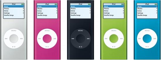 Família de iPods nano coloridos (2006)