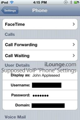 Configurações de VoIP nativo no iPod touch 4G