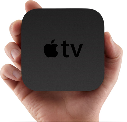 Apple TV na mão