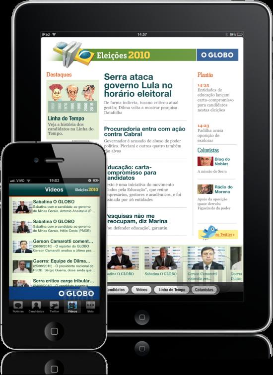 O Globo - Eleições 2010 no iPhone e no iPad