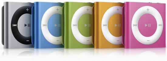 iPods shuffle 4G