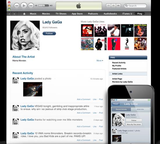 Ping no iTunes 10 e no iOS