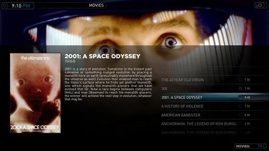 Plex e 2001: Uma Odisseia no Espaço