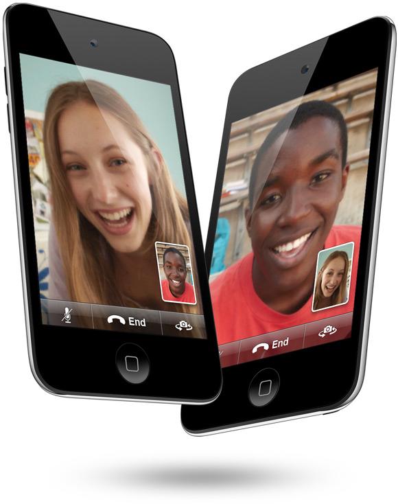 iPods touch voando com FaceTime