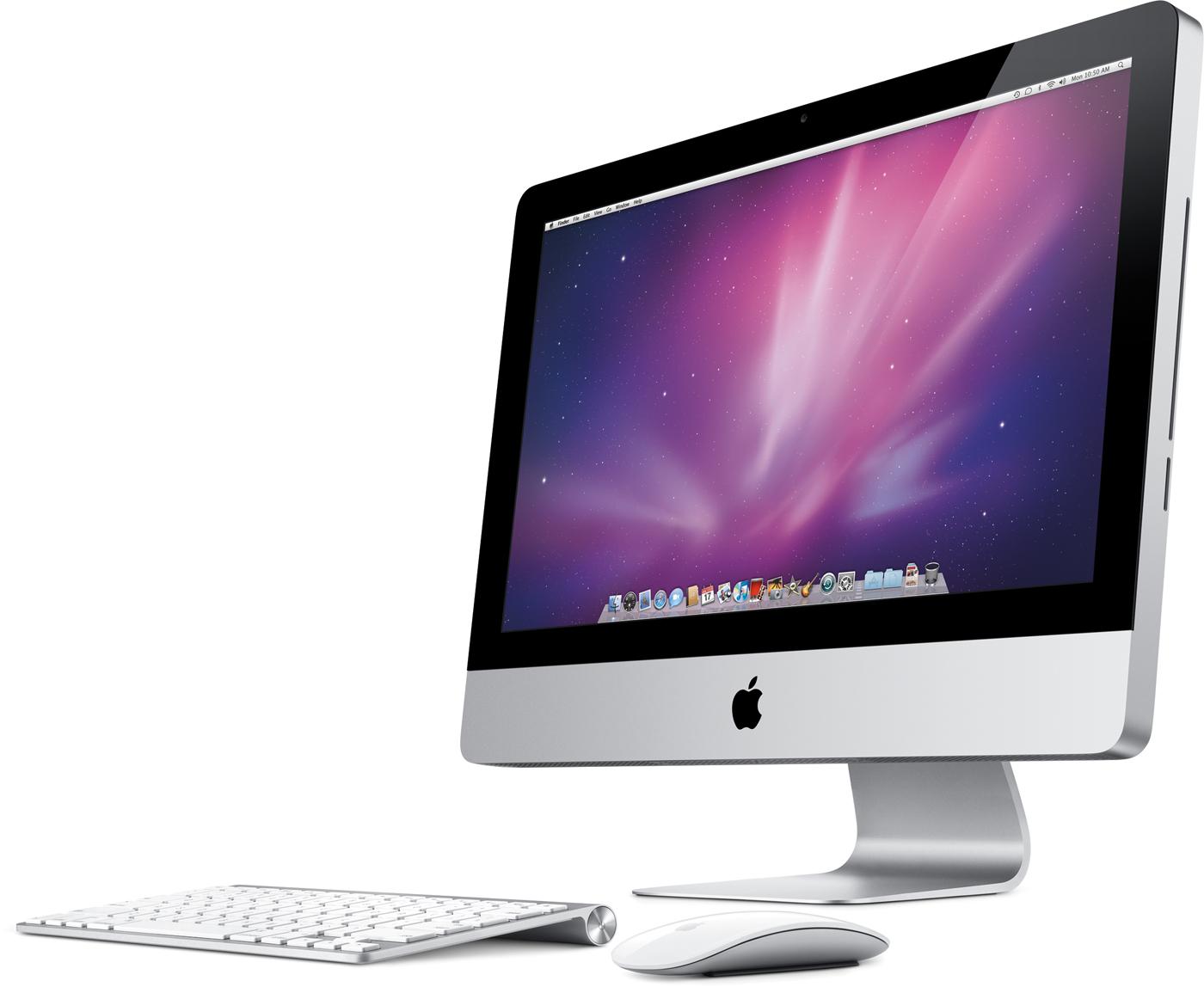 iMac de 21,5 polegadas visto de lado