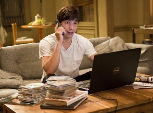 Justin Long usando um Dell em Amor à Distância