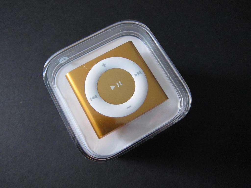 Unboxing do iPod shuffle 4G