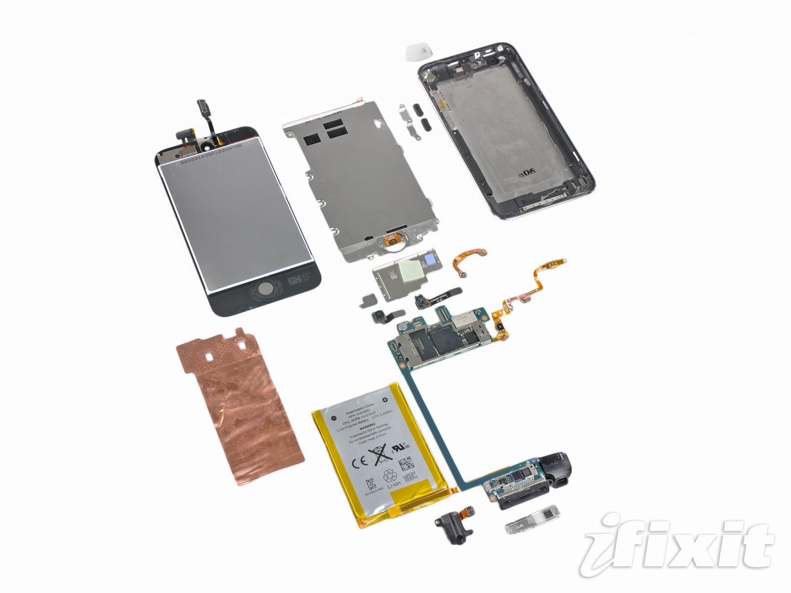 iPod touch 4G desmontado; iFixit