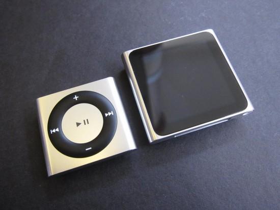 iPod shuffle 4G e nano 6G