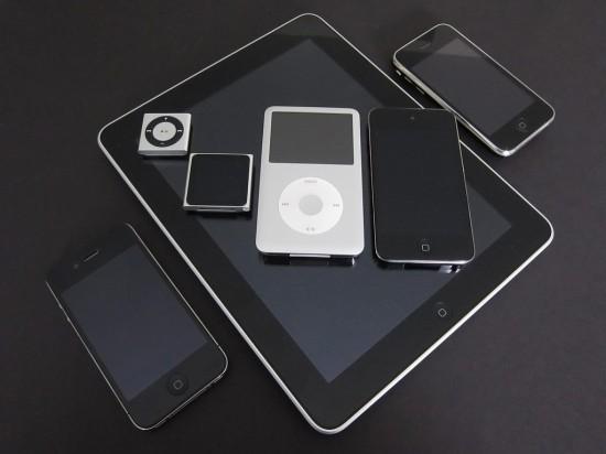Família de iPods, iPhones e iPad