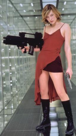 Milla Jovovich em Resident Evil