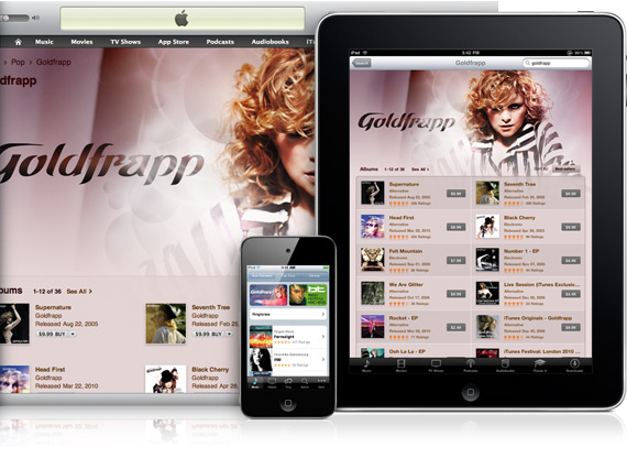 iTunes Store em Mac, iPad e iPhone