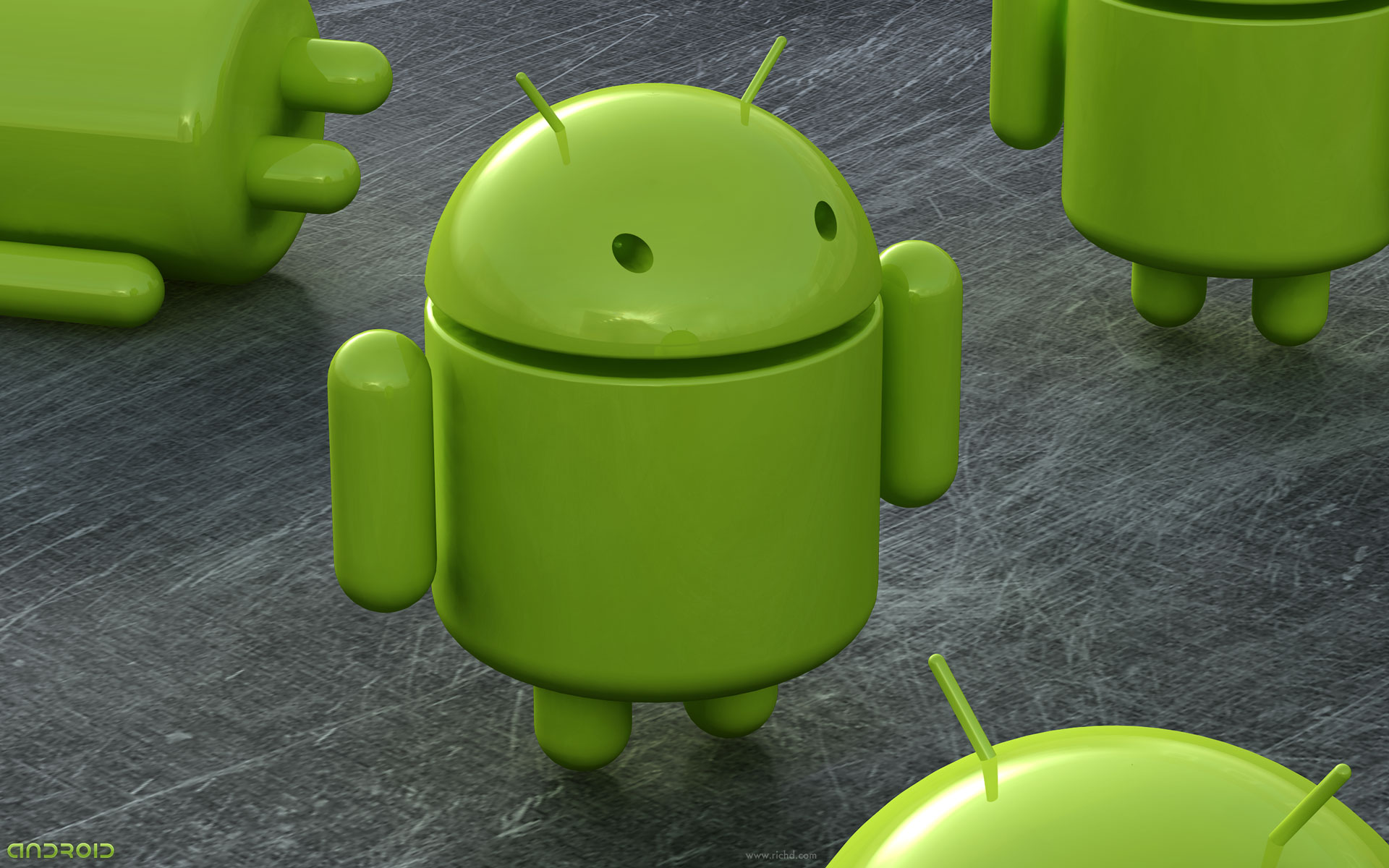 Robô verde do Google Android