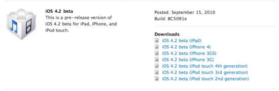 iOS 4.2 beta 1