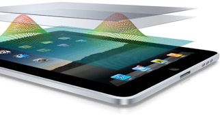 Tela multi-touch do iPad