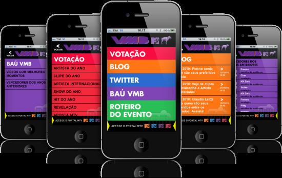 VMB 2010 em iPhones