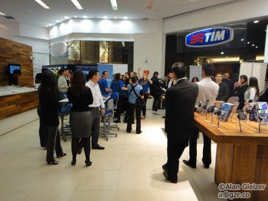 Coquetel da TIM no Shopping Eldorado, em São Paulo